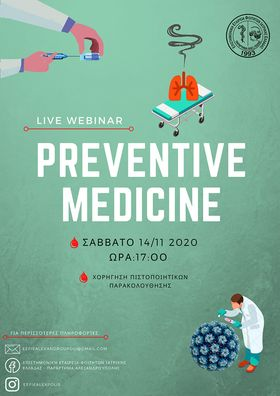 Live Webinar- Preventive Medicine